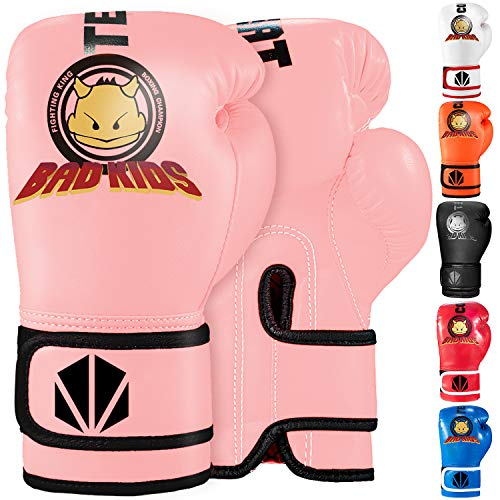 TEKXYZ Guantes De Boxeo para Niños Serie Bad Kids 4 OZ / 6