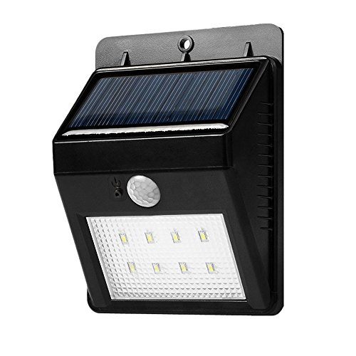 BENGOO Outdoor Solar Light Night Light Waterproof Wireless Wall Lights with Motion Sensor Easy Install Security Appliance for Step, Front Door, Back Yard, Driveway, Garage
