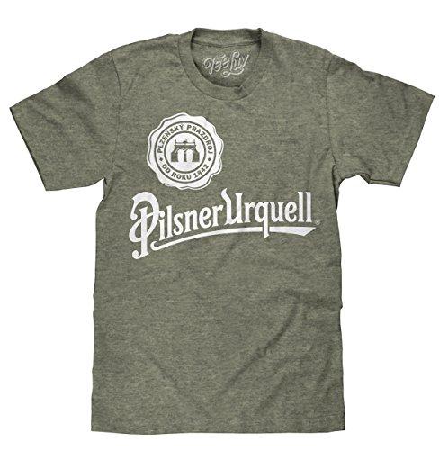Tee Luv Pilsner Urquell Beer T-Shirt (Sage-Black Heather) (M)