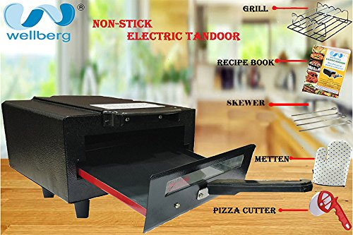 WELLBERG NON-STICK Electric Tandoor With FREE Kitchen Accessories WORTH 1899/-