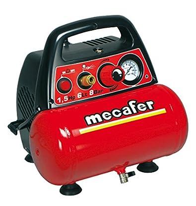 Foto di Compressore portatile mecafer 6 lt. 1,5 hp