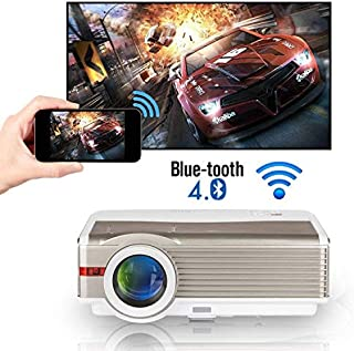 6000 Lumens WXGA WiFi Bluetooth Projector LCD HD 1080P Airplay Supported LED Android Home Theater Video Projector Outdoor ...