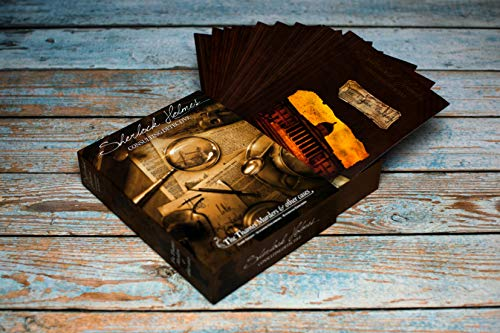 Sherlock Holmes Consulting Detective - The Thames Murders & Other Cases Board Game   Mystery Game for Teens and Adults   Ages 14+   1-8 Players   Average Playtime 90 Min.   Made by Space Cowboys