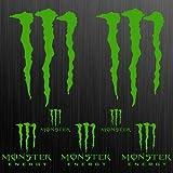 myrockshirt Monster XL Aufkleber Sticker Motorrad Motorcycle Auto Tuning Claw 7 Stücke ca.30cm Aufkleber Autoaufkleber Sticker Decal ohne Hintergrund UV&Waschanlagenfest