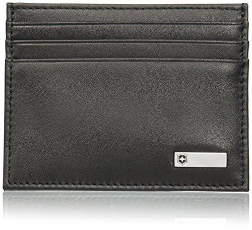 Victorinox Altius 3.0 Sapporo - Brieftasche Portemonnaie Kartenetui klein Männer Leder - Schwarz