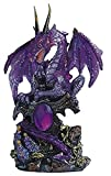 StealStreet 7871351 Le Elegant Purple Dragon Standing with Sword On Rock Collectible Figurine Statue