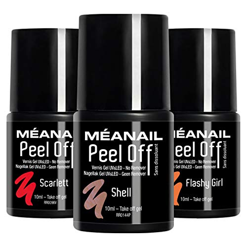 UV Nagellack Shellac Set Meanail Paris PEEL OFF® UV Gel Set Soak Off Gellack Set Vegan&Cruelty free