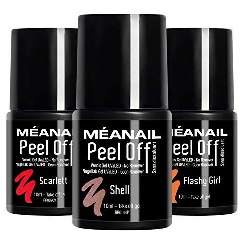 UV Nagellack Shellac Set Meanail Paris PEEL OFF® UV Gel Set Soak Off Gellack Set Vegan&Cruelty free