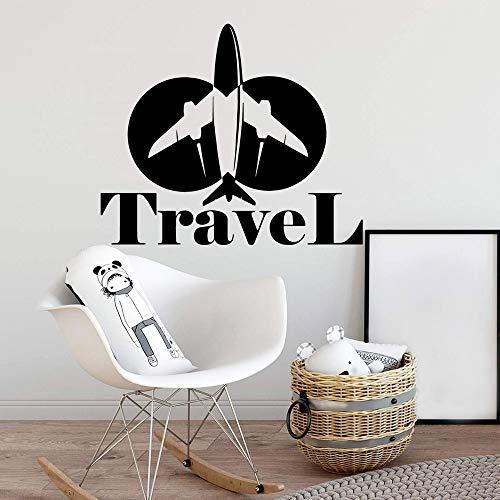Avión pegatinas de viaje papel pintado impermeable decoración del hogar dormitorio decoración de jardín de infantes decoración pegatinas de pared A5 43x50cm