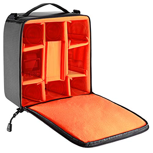 Neewer Flexible Partition Camera Padded Bag Insert Protection Handbag for SLR DSLR Mirrorless Cameras and Lenses,Flash Light,Radio Trigger,Battery and Charger,Cables and Other Camera Accessories