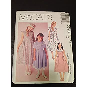 McCall Pattern Company M7043CDD Childrens//Girls//18-Inch Doll Tops 2-3-4-5 Dresses and Leggings Sewing Template CDD
