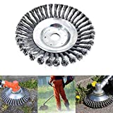 Cepillo redondo de alambre de acero de 6 pulgadas para desbrozadora de 150 x 25 mm de Diámetro para Desbrozadora Eliminar Maleza