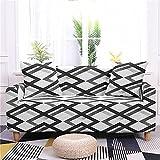 MKQB Funda de sofá con Estampado de celosía, Funda de sofá de combinación de Esquina, Funda Protectora de sofá elástica Antideslizante para Muebles n. ° 9 3seat-L- (190-230cm