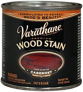 Varathane 211803 Premium Wood Stain, Half Pint, Cabernet