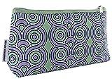 Large Clinique Jonathan Adler Purple Green Geometric Cosmetic Makeup Bag