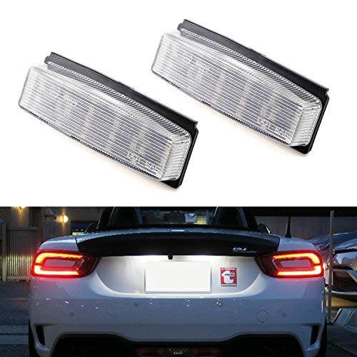 iJDMTOY Oem-Fit 3W Full Led License Plate Light Kit For 2006-2015 Mazda Mx-5 Miata & 2017-Up Fiat 124 Spider, Powered By 18-Smd Xenon White Led Diodes