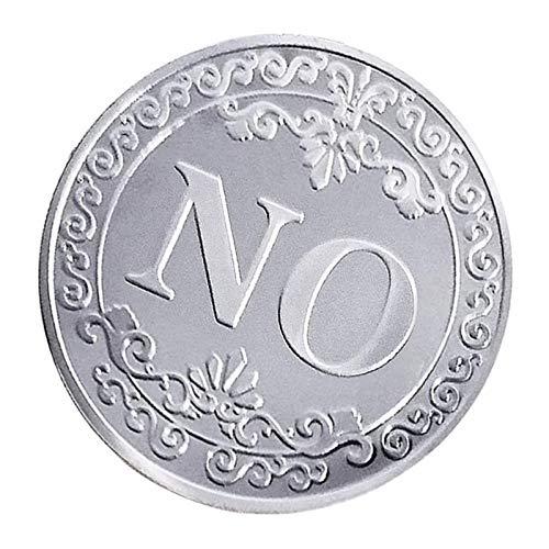 IPOTCH Carte De Presse Jetons Commémoratifs en Métal Oui Ou Non Accessoires De Poker