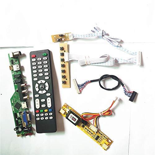 Para HT185WX1-100/500/501 2CCFL 30Pin LVDS Remote+Inversor+teclado T.V53 controlador de pantalla LCD VGA HDMI AV USB RF kit de bricolaje (HT185WX1-500)