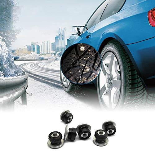 LIZANAN Auto 100PCS 8mm Spikes for Reifen Winterreifen Spikes Autoreifen Studs Schneeketten Ice Bolzen Carbide Studs for Auto Auto SUV ATV Ketten