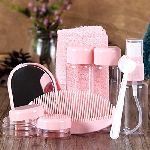 TININNA Reise flaschen Set für Make-up Kosmetische Toilettenartikel Flüssigcontainer Auslaufsicher...