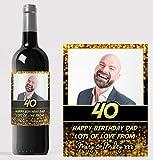 Etiqueta personalizada para botella de vino con texto en inglés «Congratulations»