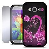 Galaxy Core Prime Case, Prevail LTE Case, CoverON [VitaCase Series] Slim Hybrid Hard Cover TPU Bumper + Screen Protector Phone Case for Samsung Galaxy Core Prime (G360) Prevail LTE - Purple Love