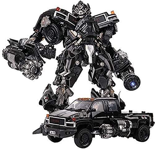 ロボット車頑丈な変形玩具子供のおもちゃ変換玩具キングコングフキングコングのおもちゃトランスフォーマーおもちゃアクションフィギュアロボットトラックアクションフィギュア、オートボットブラックマンバLS-09トランスフォーマーMPM-06アイアンハイド開発想像力と創造性ロボットおもちゃ-6歳の男の子向け