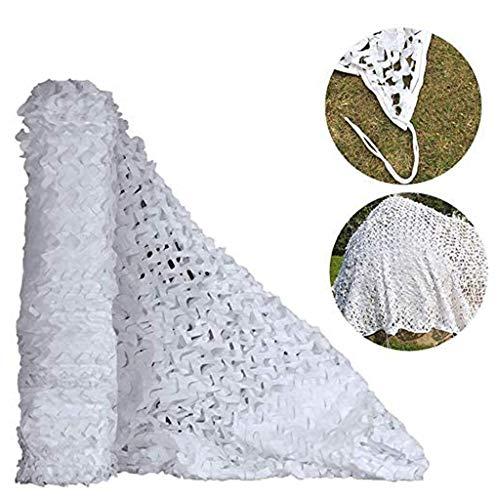 KYSZD-Baches Filet de Camouflage Blanc Maille 210D Filet de Camouflage en Tissu Oxford pour la décoration de Parasol, Chasse à l'aveugle (multisize)
