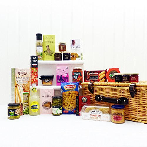 Exquisite Gourmet Food Selection Hamper Presented in a Wicker Basket - Ideas for Mum, Mothers Day, Valentines, Birthday, Wedding, Anniversary and Corporate