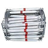Notfall Notausgang Strickleiter - Feste flammwidrige Brandschutz-Drahtseilleiter - Schnelle Bereitstellung und einfache Verwendung - Kompakt und einfach zu verstauen - Wiederverwendbar,3M