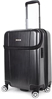 Newcom Top Opening Luggage,Hard Shell Carry on Suitcase,20-in,Dark Grey (Dark Grey)