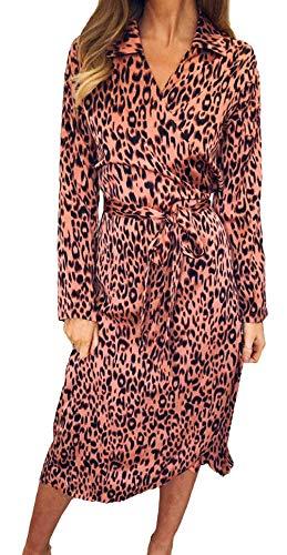 Dames Zomerjurken met lange mouwen Elegante Bloemen Geschenken Maxi Vakantie Printen Jurken V-hals Comfortabele Mode Casual Jurken Pastel Losse Casual Avondjurken Chiffon