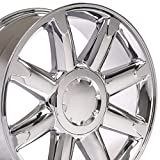 OE Wheels LLC 20 inch Rim Fits GMC Sierra Denali Wheel CV85 20x8.5 Chrome Wheel Hollander 5304
