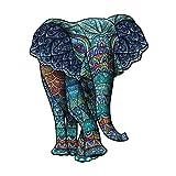CHSHY Puzzles De Rompecabezas De Madera - Elefante Decorativo, Piezas De Forma Únicas. Puzzles De Animales, Mejor Regalo para Adultos Y Niños,A3