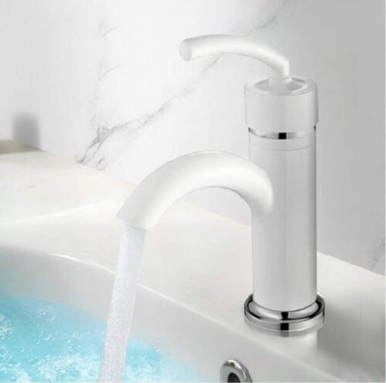 360° redating Faucet Retro Faucet Basin Faucet White Bathroom Basin Faucet Brass Sink Water Mixer Taps