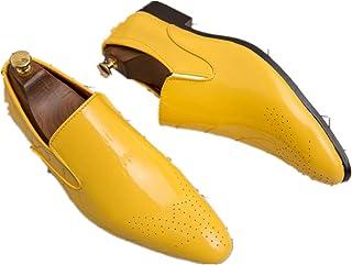 Mocasines Planos Ocasionales de Los Hombres Zapatos de Conducción Sin Cordones Zapatos de Cuero Negro de Moda Oxfords