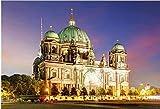 YHKTYV Vista Nocturna De La Catedral De Berlín Rompecabezas De Madera 98 Piezas Desafío Educativo Difícil Alivio del Estrés Juguete Regalo Decoraciones De Pared Desmontable