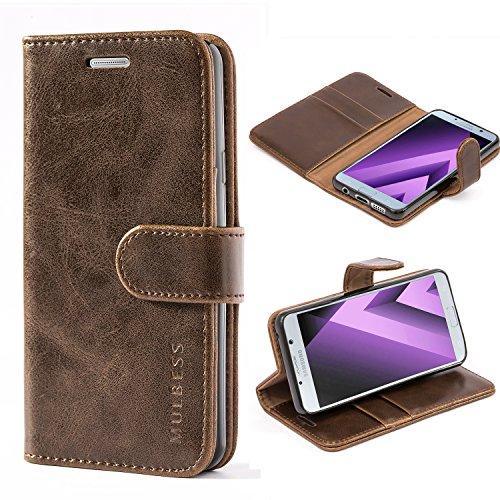 Mulbess Handyhülle für Samsung Galaxy A3 2016 Hülle, Leder Flip Case Schutzhülle für Samsung Galaxy A3 2016 Tasche, Vintage Braun