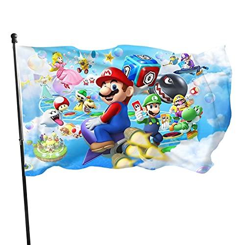 Super Mario Fahnen Flagge Flag Banner Polyester Material Gartenbalkon Gartendekoration Im Freien 90x150cm