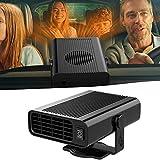 Bestine - Calefactor portátil para coche (12 V/24 V, 120 W, con purificación de aire), color negro y blanco