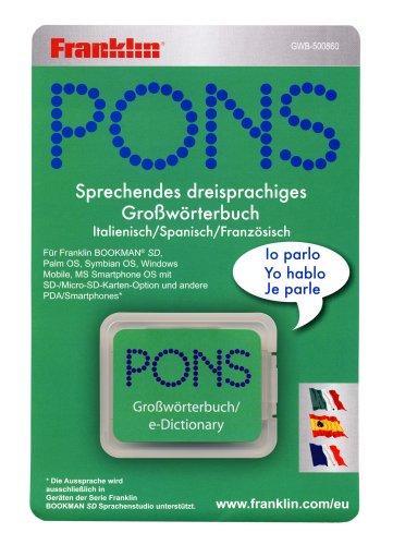 Franklin GWB-500860 Pons Multi-Title Großwörterbücher-Suite Spanisch, Französisch, Italienisch