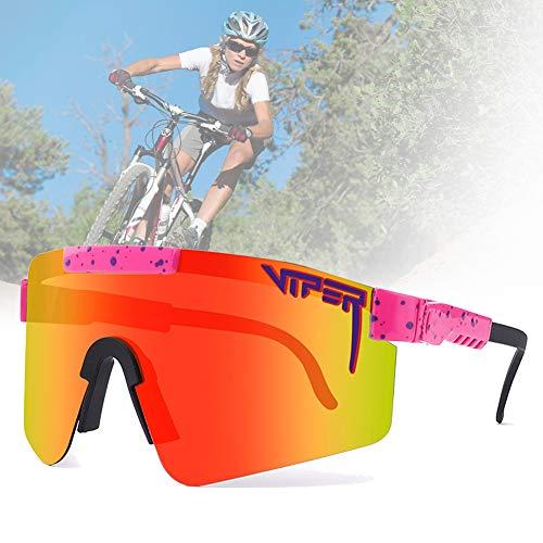 CWWHY Gafas De Sol Polarizadas, Gafas De Sol De Ciclismo, Gafas De Sol Deportivas para Ciclismo Hombres Mujeres Deportes Al Aire Libre Pesca Golf Gafas De Béisbol Gafas A Prueba De Viento,C06