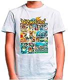 Mx Games Camiseta Inazuma Eleven (Tipo GTA) Blanca (Talla: 11-12 años)