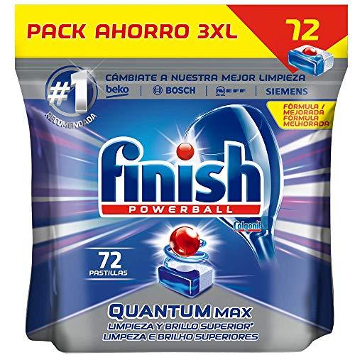 Finish Powerball Quantum Max - Pastillas para el Lavavajillas, 72 Unidades
