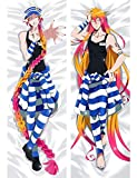 DKISEE Canvas Body Pillowcase, Detentionhouse Nanbaka Body Pillow Covers 20x54 inches, Soft Bed Pillow Covers for Adult Men and Women