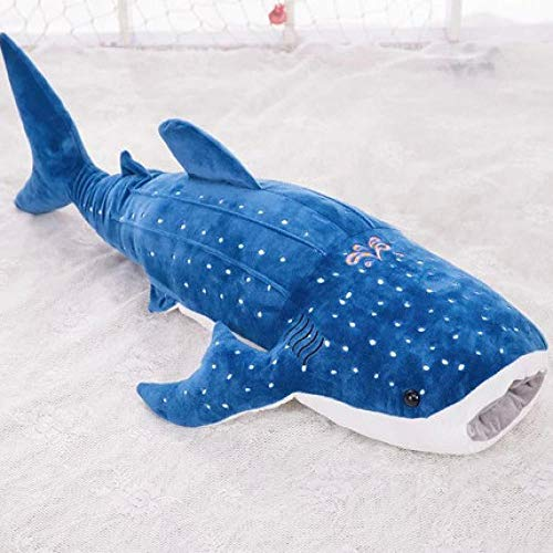 CPFYZH 150 cm Peluche gigante de tiburón ballena azul de grandes dimensiones PLU de pez suave