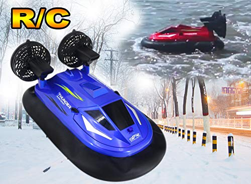 2.4G Large Remote Control Hovercraft Full Function High Speed Boat Water & ice Land Walking 1/14 Scale 9.3mph (15kmh) RC watercrafts for Big boy 14 Years Old +