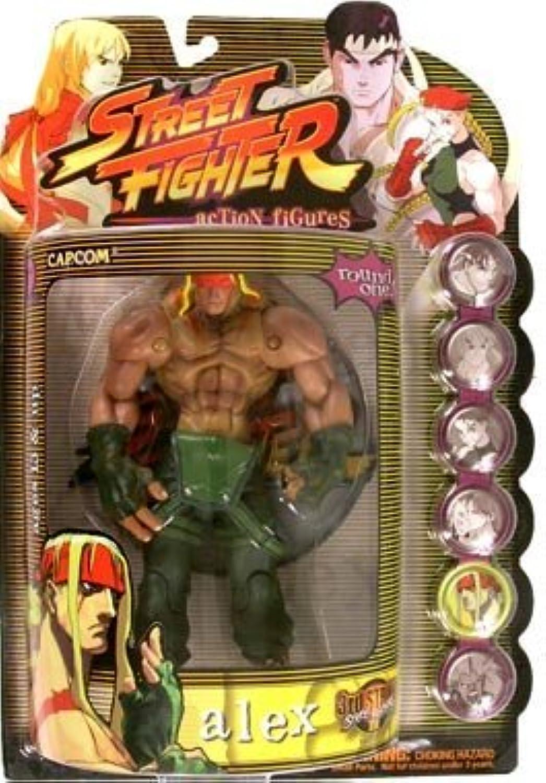 tienda de venta en línea Street Fighter Fighter Fighter Round 1 Alex Acción Figura (Jugarer One - verde Outfit) by Street Fighter  oferta de tienda