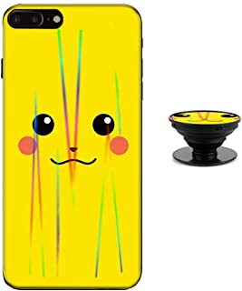 Pikachu Case for iPhone Xs X Protective Case Aurora Color Soft TPU Compatible iPhone X Cover with Phone Holder Bracket
