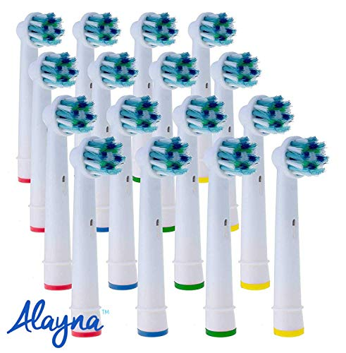 Cross Action Replacement Heads Compatible With Oral B Toothbrushes - More cleaning action in every stroke - Guaranteed A Whiter Smile!